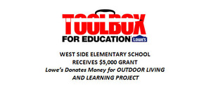Elementary Receives $5K Lowe's Grant