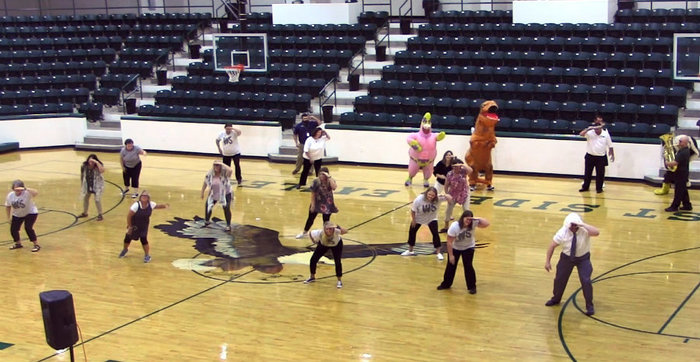 WSHS Faculty doing Uptown Funk Flash Mob