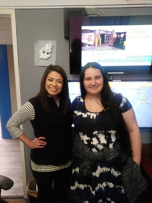 West Side junior Ashlie Hinthorne (right) job shadowed KTHV metereologist Mariel Ruiz