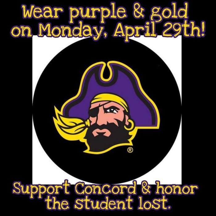 On Monday, wear purple for Concord!