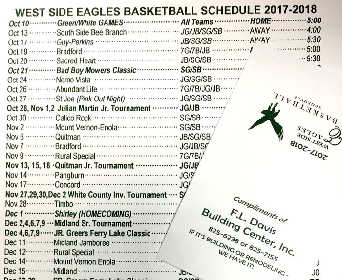 Image of basketball schedules